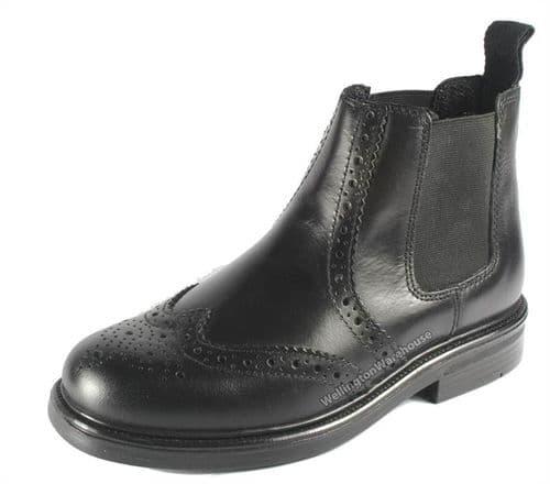 Oaktrak Appleby Black Brogue Boys Boots